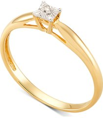 diamond accent solitaire promise ring in 10k gold