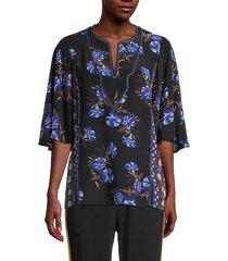 gabbi floral silk blouse