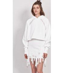 bluza hoodie 3/4 transparent