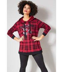 sweatshirt angel of style rood::zwart