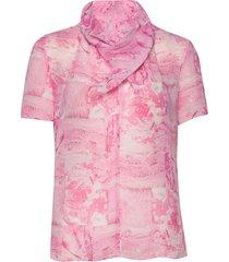 liugia p blouses short-sleeved roze tiger of sweden