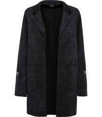 giacca in similpelle scamosciata (nero) - bodyflirt