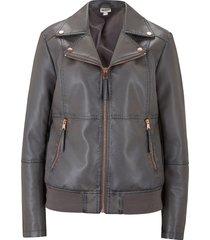 giacca in similpelle effetto lavato (grigio) - john baner jeanswear
