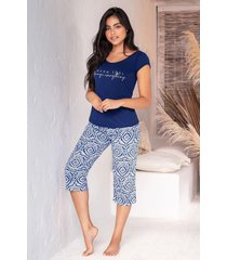 pijama mujer conjunto capri 11376