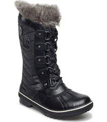 tofino ii shoes boots long ankle boots flat heel svart sorel
