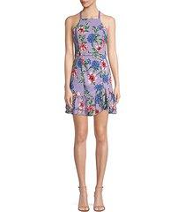 amina floral halter dress