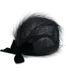 a.n.g.e.l.o. vintage cult feathered hat - black
