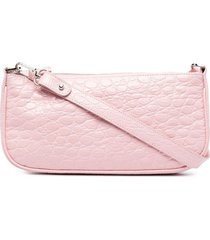 by far rachel crocodile-effect shoulder bag - pink