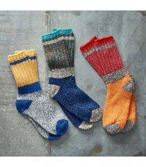 sundance catalog men's mount hermon socks, set of 3 in mrble i