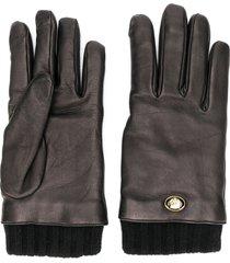 gucci tiger head gloves - black