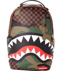 sprayground checkered shark backpack | camo | b2201