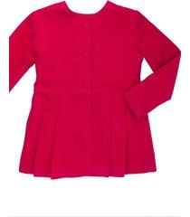casaco lã alfaiataria gingga baby e kids pink juliette