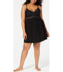 inc plus-size lace-detail chemise nightgown, created for macy's