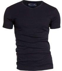 semi bodyfit t-shirt v-neck black