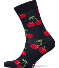 cherry sock underwear socks regular socks blå happy socks