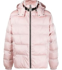 1017 alyx 9sm clip-neck quilted puffer jacket - pink