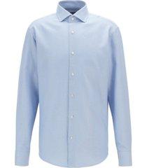 boss men's regular-fit two-colored italian cotton twill shirt