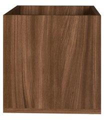cachepot decorativo multiuso madeirado 31x30x30cm