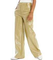 danielle bernstein patent faux-leather pants, created for macy's