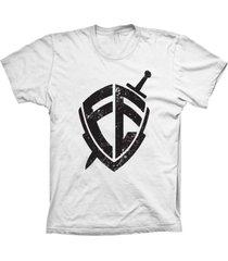 camiseta baby look lu geek escudo da fã© branco - branco - feminino - dafiti