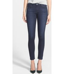 women's ag the legging ankle super skinny jeans, size 33 - blue