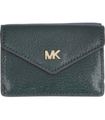 michael michael kors money pieces small flap-over leather wallet