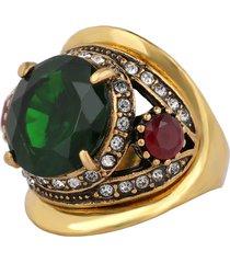anello con cristallo