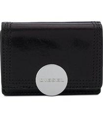 diesel lorettina folding wallet - black