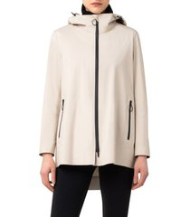 akris punto 2-in-1 techno hooded jacket, size 8 in oat at nordstrom