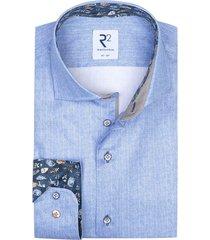 blauw overhemd r2 mouwlengte 7