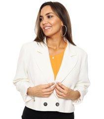 blazer blanco symmetria covunco plus size