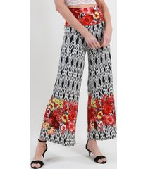 pantalon palazzo floreado colores night concept