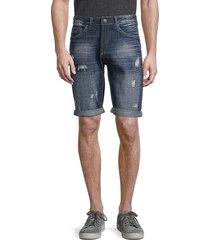 buffalo david bitton men's parker-x denim shorts - indigo - size 33