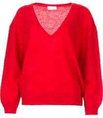basic trui met v-hals kybird  rood