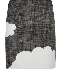 moschino mid-length cloud detail skirt