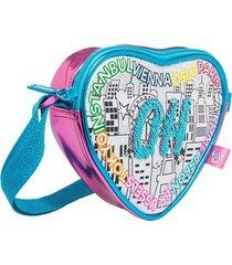 color me mine swap sequin bolso corazón