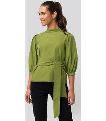 trendyol binding detailed blouse - green