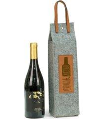 bey-berk uncork unwind felt wine tote with accents