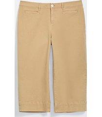 loft loft plus welt pocket high waist wide leg crop jeans in chai latte