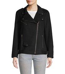 brando wool blend moto jacket
