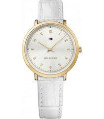 reloj tommy hilfiger modelo ultra slim - multi branded blanco mujer