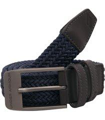 cinturón azul-negro under armour braided 2.0