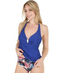 tankini top torcido azul h2o wear