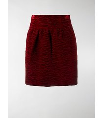 saint laurent textured high-waisted mini skirt