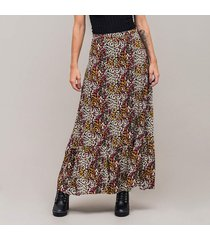 falda linea a larga talle alto margo