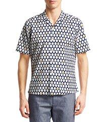 collection egg-print seersucker sport shirt
