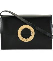 céline pre-owned ring crossbody bag - black