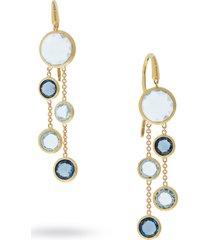 women's marco bicego mixed stone 2-strand earrings