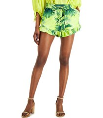 inc tropical-print pull-on shorts, created for macy's