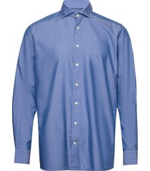 blue twill shirt – soft overhemd business blauw eton